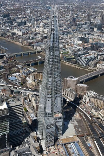 The Shard, Southwark, London. Designed by architect Renzo Piano and completed in 2012. Photographed in May 2013