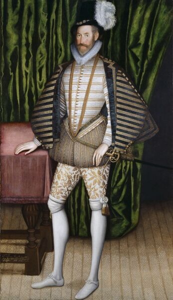 "KENWOOD HOUSE, SUFFOLK COLLECTION, London. ""Sir Jerome Bowes"" by unknown artist late 16th century. Sir Jerome was a courtier to Queen Elizabeth I and in 1583 was sent as plenipotentiary ambassador to the court of Ivan the Terrible"