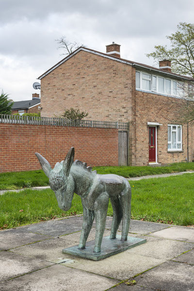 Donkey (1955) by Willi Soukop, Pittman's Field, Harlow, Essex. General view from the north west. Photographed by Steven Baker 2015