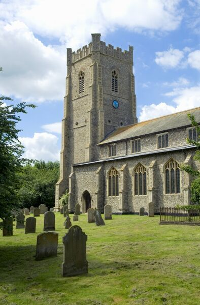 CASTLE ACRE, Norfolk. St James Church viewed from south east