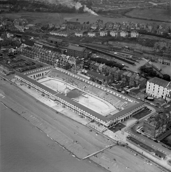 St Leonards Lido, Hastings (now demolished). Photographed in July 1962. Aerofilms Collection