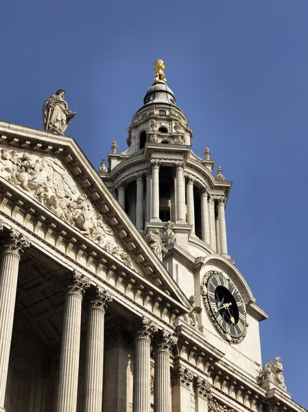 ST PAUL'S CATHEDRAL, London. Detail of West Elevation