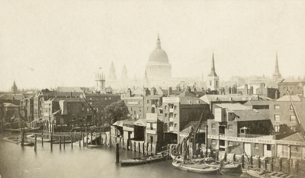 "St Paul'€™s Cathedral from Southwark Bridge, City of London, 1855-€""9"