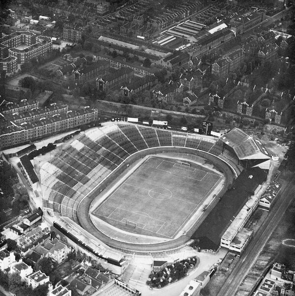 STAMFORD BRIDGE STADIUM, London. Aerial view. Home of Chelsea Football Club since 1905. Photographed in the 1930s. Aerofilms Collection (see Links)