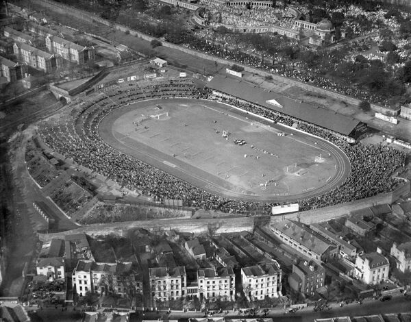STAMFORD BRIDGE STADIUM, London. Aerial view. Home of Chelsea Football Club since 1905. Photographed in 1929. Aerofilms Collection (see Links)