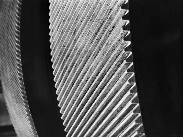 Detail of a steam turbine. Photographed in around 1906 for the London Midland and Scottish Railway