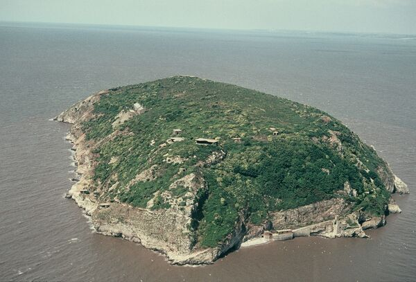 Steep Holm, Bristol Channel. Steep Holme is a small island in the Bristol Channel, five miles off Weston-super-Mare