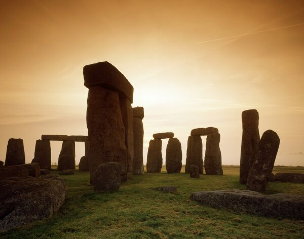 STONEHENGE, Wiltshire. Early morning view of the stones