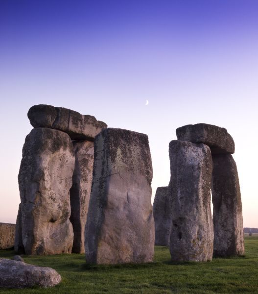 STONEHENGE, Wiltshire. View of the stones at early dawn