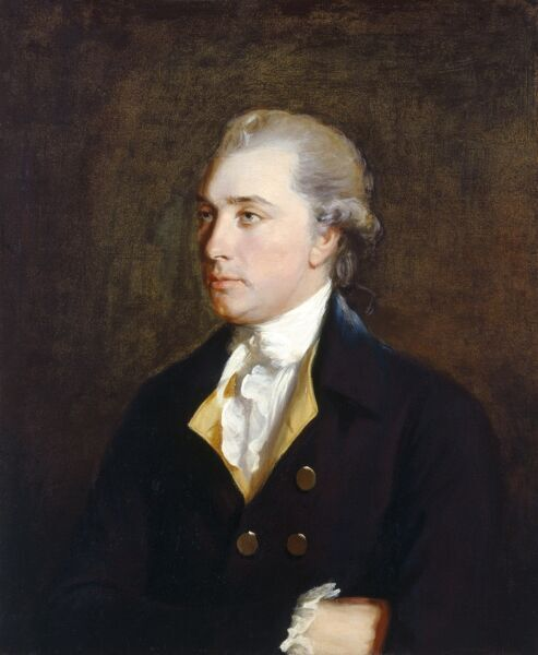 "BATTLE ABBEY, East Sussex. Webster Portraits. ""Sir Godfrey Webster"" by American painter Gilbert STUART (1755-1828)"