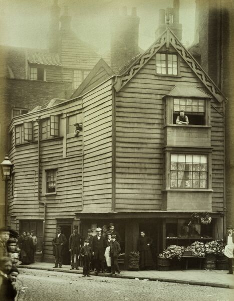 timber boarded house city of london 1884 bl05123