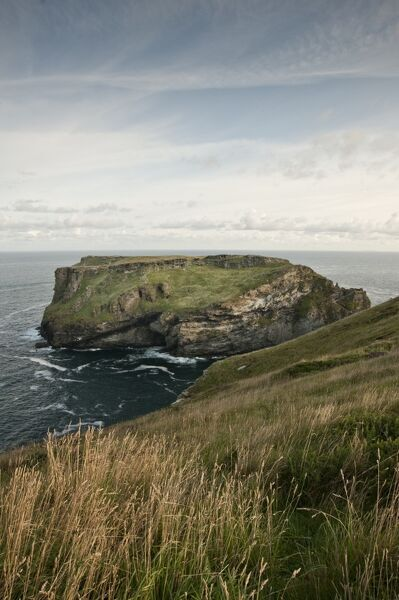 TINTAGEL CASTLE, Cornwall. View of the island from the south