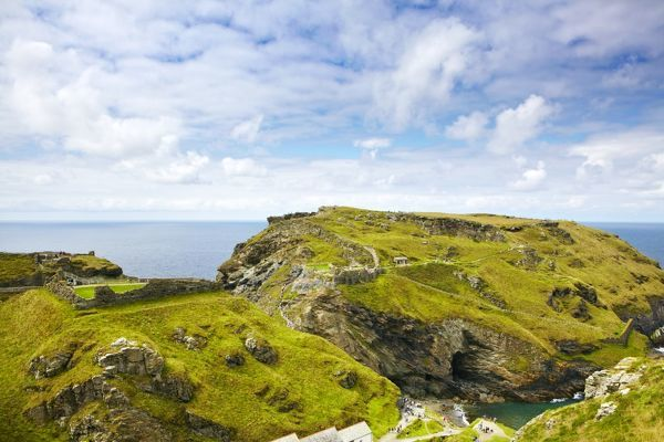 TINTAGEL CASTLE, Cornwall. General view from the north east