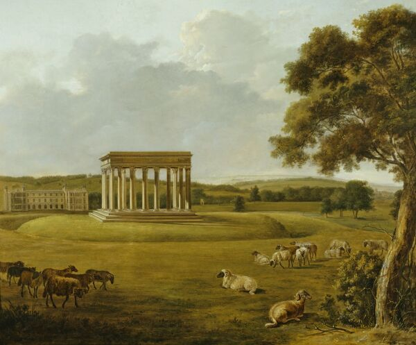 "AUDLEY END HOUSE, Essex. ""Audley End and the Temple of Concord"" by William Tomkins (1730-1792)"