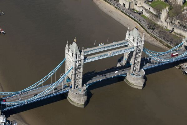 Tower Bridge, Tower Hamlets, London. Built between1886 and 1894 in Victorian Gothic style. Photographed in May 2013