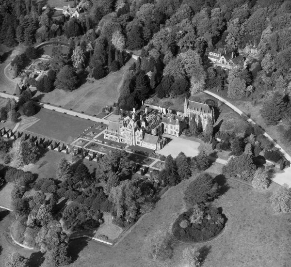 Tyntesfield House, Wraxall, North Somerset. Victorian Gothic Revival house, now a National Trust property. Aerial view by Aeropictorial. October 1957. Aerofilms Collection