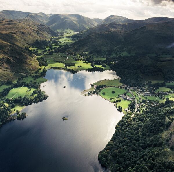 ULLSWATER, Lake District, Cumbria. Aerial view of Ullswater and Patterdale. Aerofilms Collection (see Links)