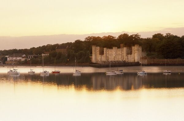 UPNOR CASTLE, Kent. View of the castle from across the Medway