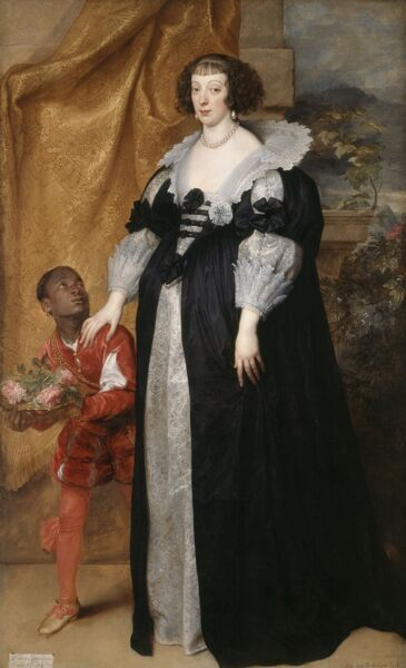 "KENWOOD HOUSE, THE IVEAGH BEQUEST, London. "" Henrietta of Lorraine "" 1634 by Sir Anthony van Dyck (1599-1641)"