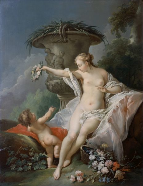 "BRODSWORTH HALL, South Yorkshire. ""Venus and Cupid"" after Francois BOUCHER"