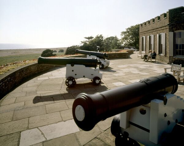 WALMER CASTLE, Kent. View of cannons on the gun deck