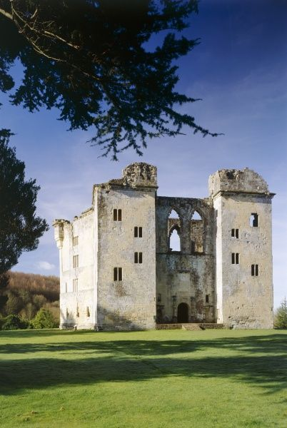 OLD WARDOUR CASTLE, Wiltshire. North east side