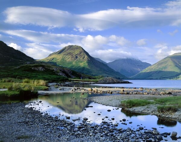 WAST WATER, Lake District, Cumbria. A view over Wast Water showing the fell of Yew Barrow in the distance