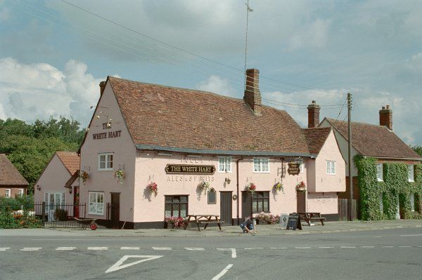 Timber-framed public house in Hadleigh, Suffolk. IoE 277623