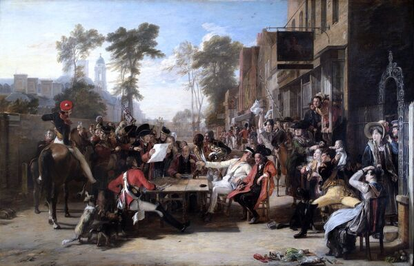 "APSLEY HOUSE, London. ""The Chelsea Pensioners reading the Waterloo Despatch"" 1822 by Sir David WILKIE (1785-1841). WM 1469-1948"