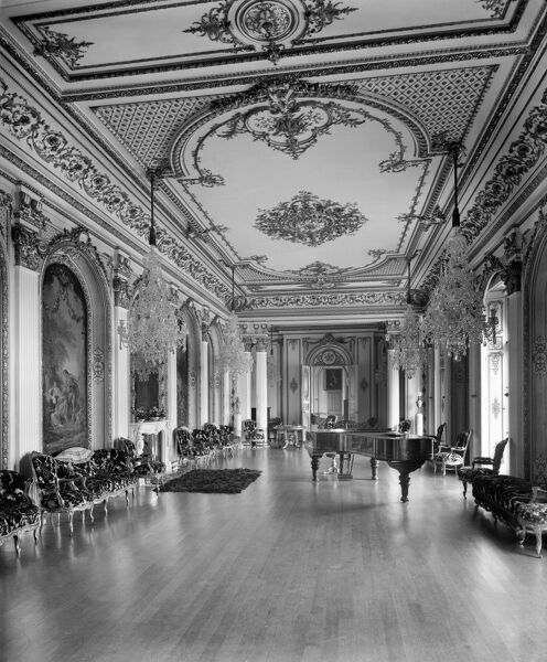 WITLEY COURT, Worcestershire. Interior view c.1920. The Music Room. Photographed by Bedford Lemere