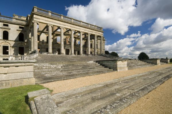 WITLEY COURT AND GARDENS, Worcestershire. The South Portico steps