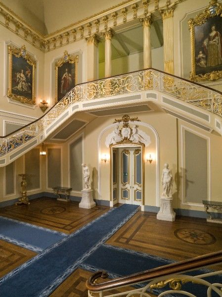 WREST PARK HOUSE AND GARDENS, Bedfordshire. Interior of the Staircase Hall