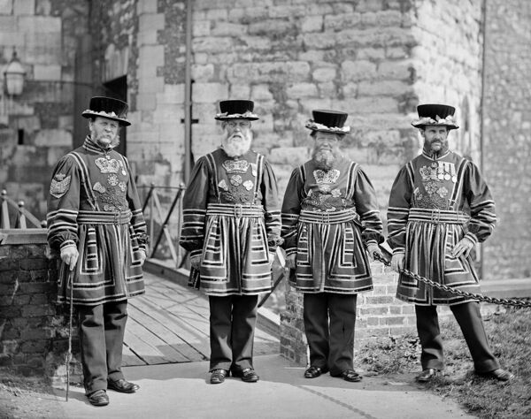 "Yeoman Gaoler and Yeoman Warders at the Tower of London, 1873-€""8"