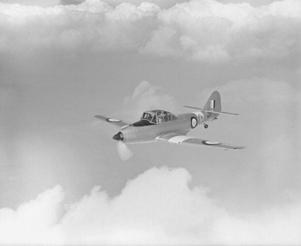 Avro Athena T.1 prototype (VM125) in flight from Woodford, 27 July 1948