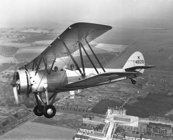 Avro Tutor I of Oxford University Air Squadron RAF over Kent, 1935