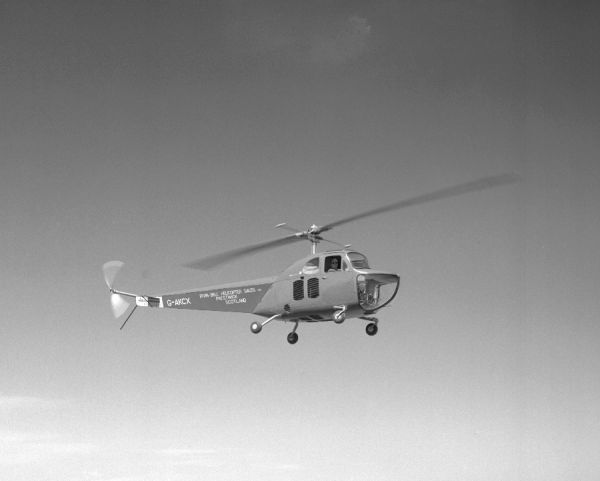 Bell 47B (G-AKCX) of Irvin-Bell Helicopter Sales Ltd