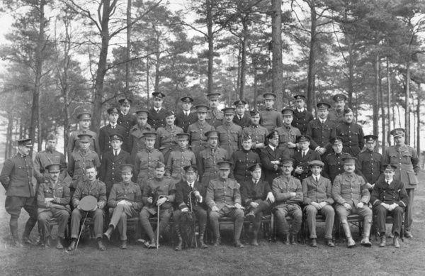 Group photograph of the students and instructors of the CFS at Upavon