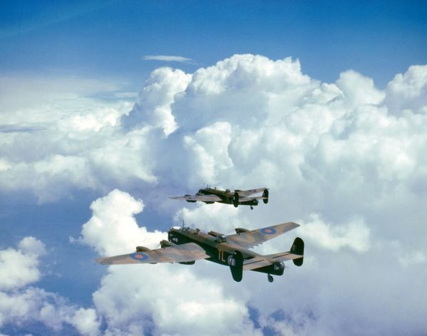 Two Handley Page Halifax II aircraft of 35 Squadron RAF, 1942