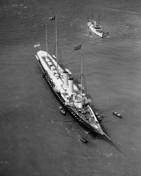 The Royal Yacht Victoria and Albert at Cowes, 1934