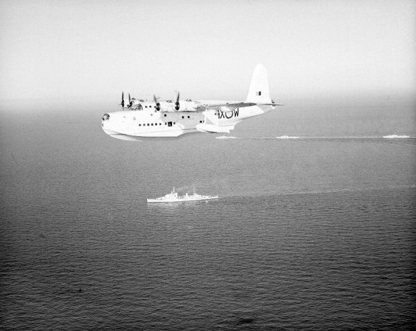 Short Sunderland MR.5 of 230 Squadron RAF, Gibraltar, February 1950