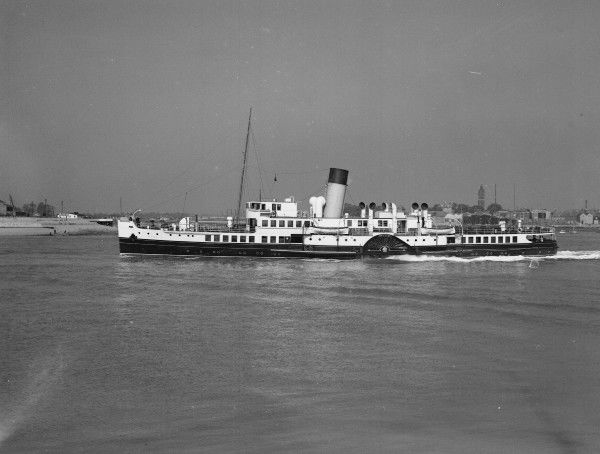 Southern Railway Isle of Wight ferry PS Ryde at Portsmouth