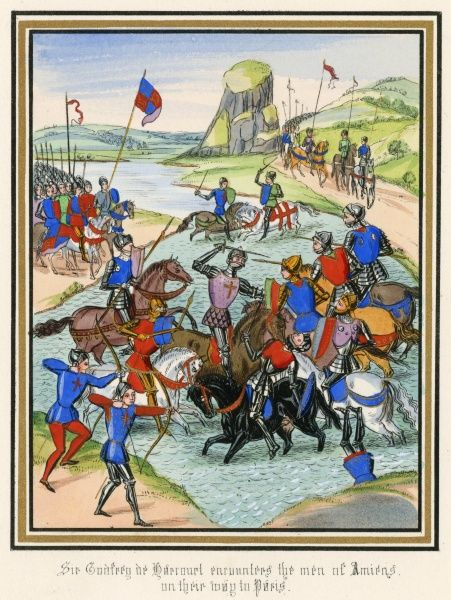 Sir Godfrey of Harcourt defeats the men of Amiens