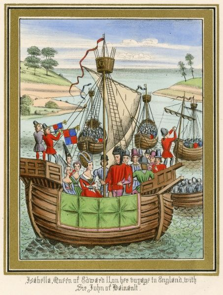 Fleet of sailing vessels employed to carry Isabella of Hainault from France to England, to wed Edward II