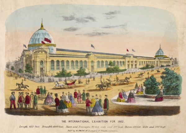 General view of the exhibition buildings at the southern end of the gardens of the Royal Horticultural Society in Kensington, London