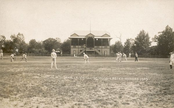 Benalla v. Collingwood Cricket Match in Australia on Easter Monday 1909