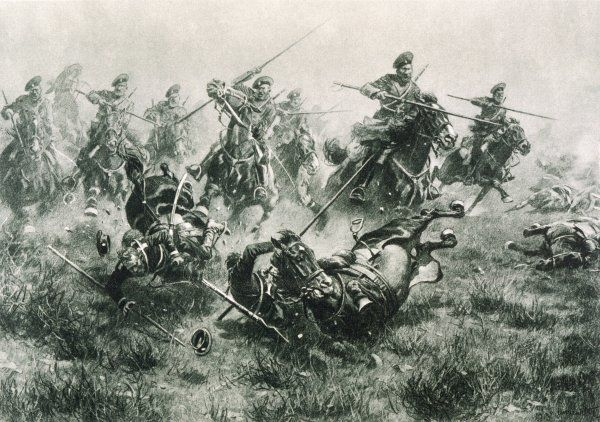 Cavalry charge of the Cossacks