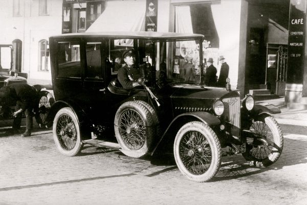 Taxicab, Lund, Scania 1920s. Date: 1920s
