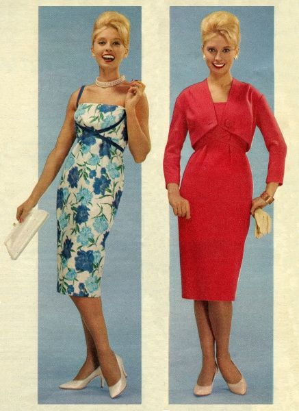 1950s fashionable dresses Date: circa 1956