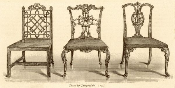 Three chairs by THOMAS CHIPPENDALE