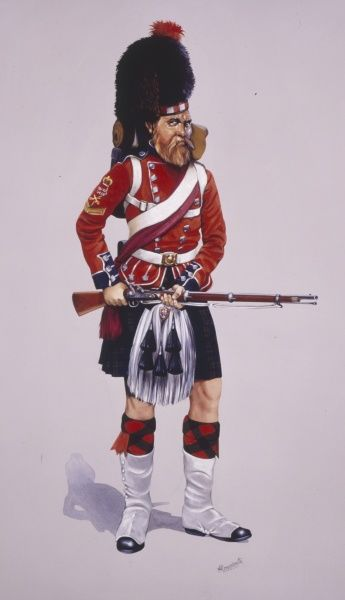 Colour Sergeant of 42nd Highlanders (The Black Watch) (The Royal Highland Regiment) - wearing full battle order